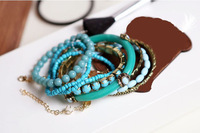 Браслет boho bracelets & bangles for women chain beads handmade jewelry christmas gift MOQ $10