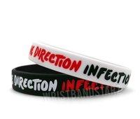 Ювелирное изделие ONE DIRECTION INFECTION BRACELET, 1D WRISTBAND, adult size, filled in colour, 100pcs/lot