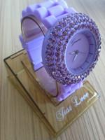 15 цветов дамы бренд Женева Смотреть Классические гель кристалл силиконовые желе стиль часы персик