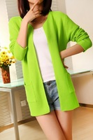 Женский кардиган Newest Woman Knit Sweater 6 Colors Slim air-conditioned Ladies Cardigans Mid-Full Length High Quality