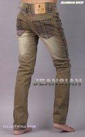 2012 New arrival Jeansian brand Men's fashion Designer Slim Fit Jeans Pants Low Rise W30 32 34 L32 KM123 Free Shipping