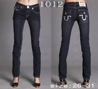 2012 new arrival Free Shipping 100% Cotton,Women's brand Jeans/Ladies' Fashion Straight Jeans