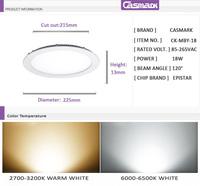 Светодиодный светильник Casmark SMD 2835 85/265 18w 18w CK-MBY-18