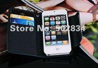 Чехол для для мобильных телефонов 2pcs/lot Wallet Flip Leather Case Lanyard Cover ID card Case for iPhone 5 5G 5S
