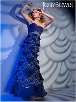 Синяя оболочка v шеи этаж Длина шифона платье платья