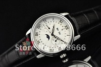 1 PC BLANCPAINING Designer watch for men,Automatic Movement,Sapphire Glass,Stainless steel case,Leather Strap,40mm,free shipping