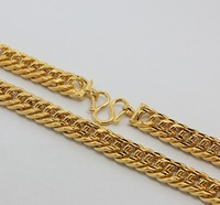 Колье-цепь YGPN500 Yellow Gold Plated 10MM High Quality Thick Chain Necklace For Man / 2013 Fashion Jewelry