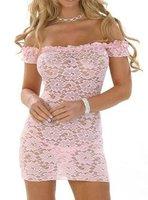 Сексуальная ночная сорочка Pink Sexy Lingerie Set Underwear Drop Shipping
