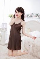 Женский халат Women's Lingerie Leopard Spaghetti Straps Nightdress + Night-robe Sleepwear Hot Sexy DW_0087