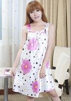 Женские ночные сорочки и Рубашки Charming Polka Dots Flower Comfortable Sleepwear