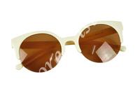 20pcs/lot унисекс модельер супер ретро круглый Кот полу ОПРАВЫ солнцезащитные очки очки 5635