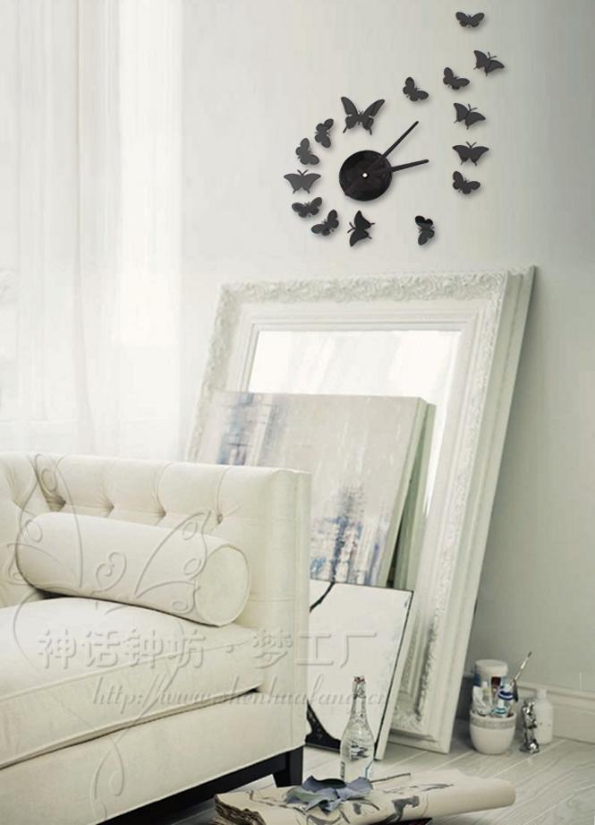 Meilleure D Coration Maison Le Papillon Horloge Murale