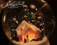 Музыкальная шкатулка Romantic Crystal Ball Music Box Rotating Light Snowing House Girls Birthday Gifts Christamas Gifts