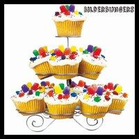 Новый десерт кекс стенд дерево держатель 3 уровня металла партии Маффин обслуживающих торт ко дню рождения 13 чашки стойки