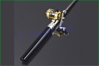 удочка New Black Fishing Tackle Pen Rod Pole and Reel Combos
