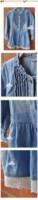 новые моды прекрасный джинсовый синий красивые кружева принцесса ковбой одежду дети длинным рукавом платье