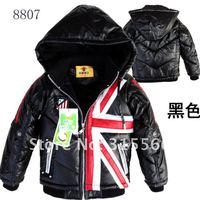 Free shipping winter leather boy jacket 4pcst/1lot big children coat fashion jacket fur collar warm cotton wholesale 0.95kg/1pcs