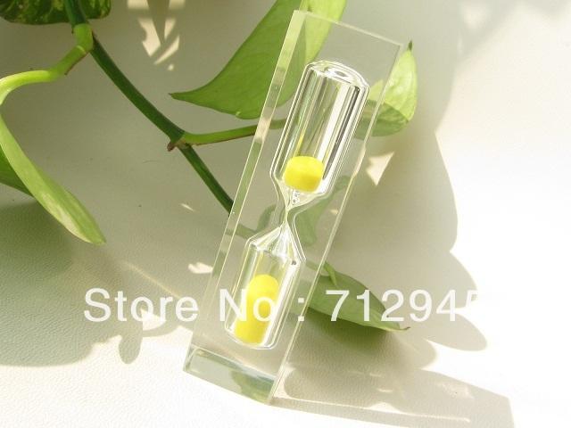 Hot vente bleu hourglass 2pcs 3 minutes timers cadeau for Portent of item protection