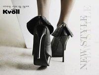 Туфли на высоком каблуке Kvoll the superfine of European and American fashion with high heels heightening waterproof rivets shoes