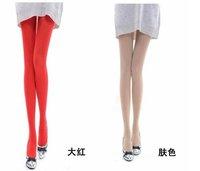 Женские чулки Women's Velvet pantyhose silk stockings autumn winter warm candy color rendering pants 3 pair /lot OPP bag