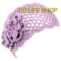 Big discount ! reticular knitted flower fashion headband headwear (50pcs mix color) lowest price