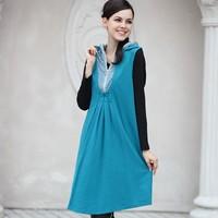 Платье для беременных autumn sport fashion sundress loose elegant simple decent maternity dress