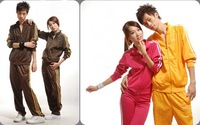 New Arrival set Free Shipping 2013 Men and Women sport suits Sweater School uniforms if more order Support for custom