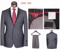 Free Shipping,Men's Branded Single Breasted Business Suits Grey/Black/Blue Top Quality One Button Formal Suits Size S-4XL