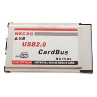 2 порта usb 2.0 pcmcia cardbus 480 м адаптер для ноутбука 100% новый