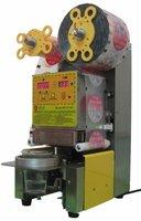 Упаковочное оборудование 1pcs AC22OV WCS-F99 Fully automatic Cup sealing machine candy floss cup sealing machine + 80KG OEM easy tearing sealing fim
