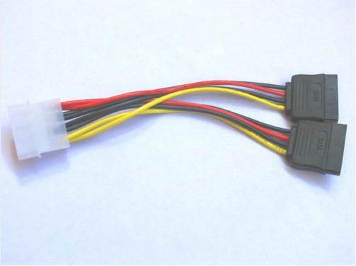 Бесплатная доставка 50pcs IDE двойного Serial ATA SATA HDD адаптер питания