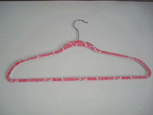 Printed Velvet Hanger flocking clothes hanger