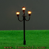 Сооружения для сада Christmas bidding 25pcs Model Lamppost 12V Scale Black garden lights 5.5cm T49