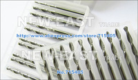 Фрезы 10 pcs/lot 3.175X2.0X15mm 2 flutes ball end mill, milling cutters, cutting tools, solid carbide, cnc router bits