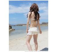 Женское бикини popular Janpan&Korean layered ruffled Bikini sets classic cute princess three piece beachspring top/shorts/ skirt/dress