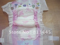 ultrathin disposable happy flute diaper with velcro tape