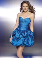 free shipping taffeta strapless Hot New Style Prom Ball Evening Dress Custom made wholesale / retail