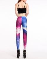 Free Shipping Wholesale 5pc/lot Women Galaxy Cosmic Space Tie Dye Leggings Pants New Arrive Best Quality