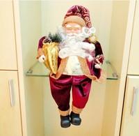 Рождественские украшения 4pcs/lot Christmas decorations for Christmas gift decoration, high-grade large/small seated Santa Claus