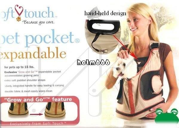 Espandibile nuovo animale domestico cane gatto borsa zaino caso
