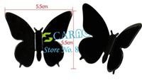 New 3D Wall Sticker Butterfly Home Decor Room Decorations Stickers Black Small Size 4696