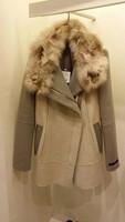Женская одежда из шерсти 2014 winter warm wool blends cashmere coat women slim Faux fur wool coat jacket women's coats