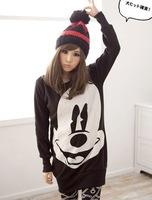Женские толстовки и Кофты Mickey Mouse Cute Long Sleeve Korean Japan Fashion Style 3 Colors