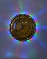 Настенные часы 1.5W 28pcs led wall clock round with RGB changing light aluminum housing modern decoration clock