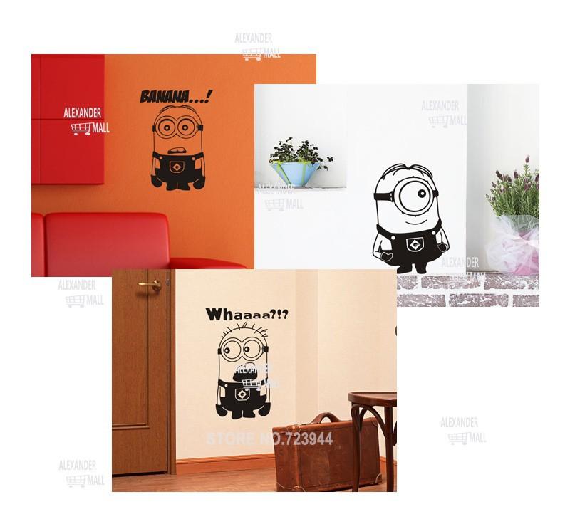 Despicable me 2 muurstickers vinyl art stickers kamer kind decor verwijderbare minions thuis - Decoratie kamer thuis woonkamer ...