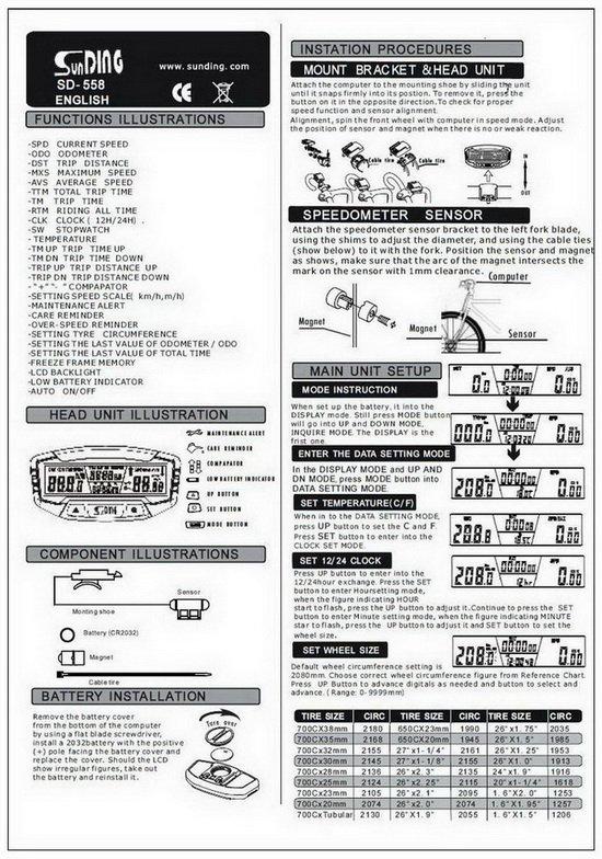 Инструкция велокомпьютер ms 602b скачать