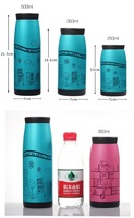 Термос 500ml Tatu cup stainless steel thermal insulated cup Hand-drawn comic cup water bottle Thermos bottle Vacuum Flasks 4 colors