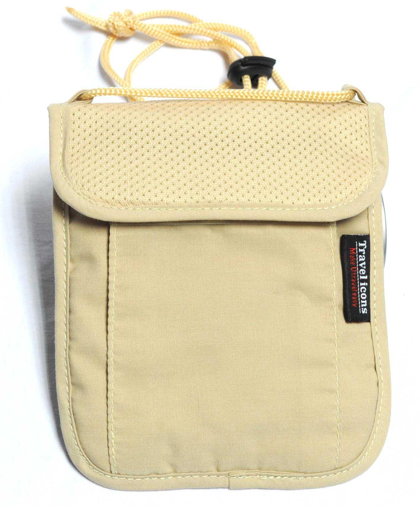 Free shipping travel gear hidden pocket money purse neck stash travel pouch passport bag for Travel gear hidden pocket