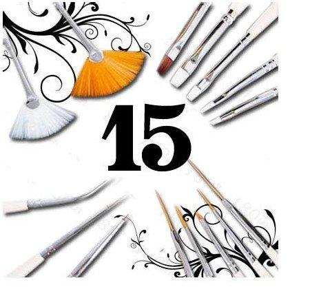 Makeup Brushes  on 15 Pcs Salon Makeup Brushes Set