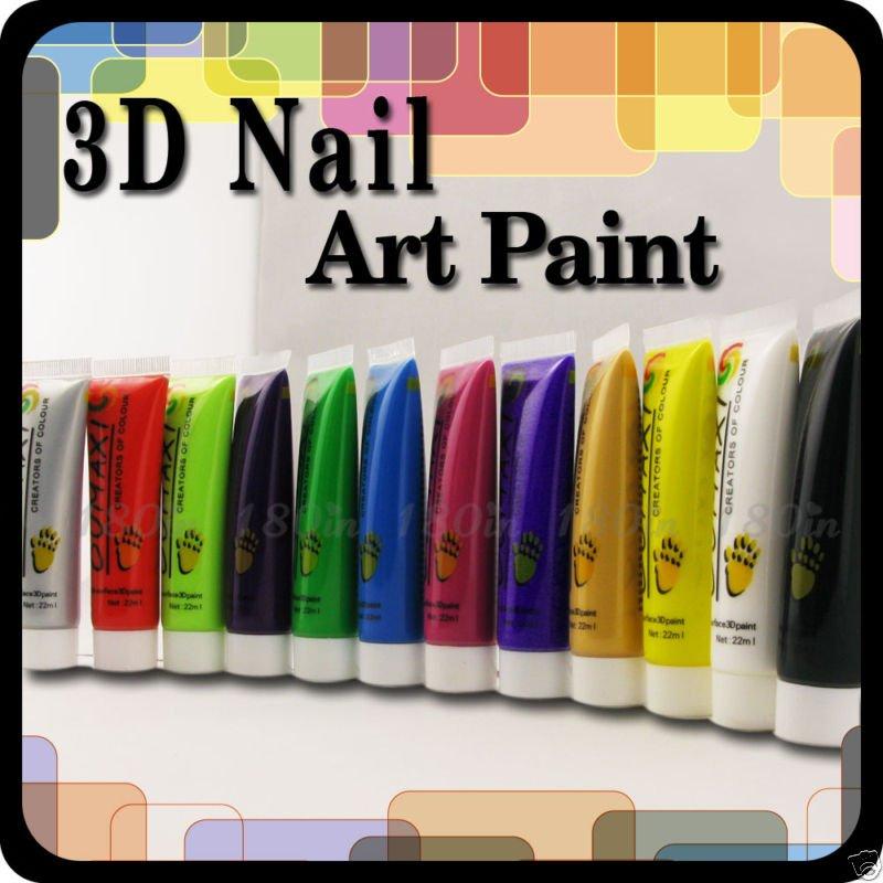 Couleur 12 nail art uv gel acrylique peintures. tube. mis en boîte